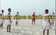 Luật bóng đá bãi biển