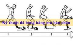 Bài 9 – Kỹ thuật đá bóng bằng mu bàn chân CHÍNH XÁC