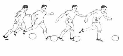 Cách dẫn bóng bằng mu ngoài bàn chân