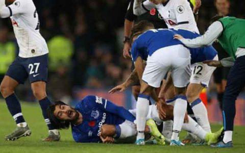 Andre Gomes của Everton chấn thương kinh hoàng
